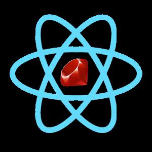 Ruby React logo